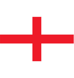 simple flag of england vector image