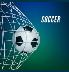 soccer game match goal moment with ball vector image