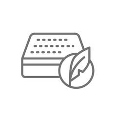 Soft orthopedic mattress line icon isolated vector