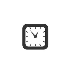 Square classic simple clock icon symbol sign vector