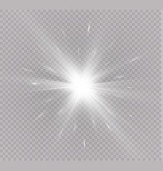 Star on a transparent backgroundlight effect vector