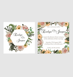 stylish coral watercolor and flowers design vector image