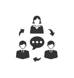 Team communication icon vector