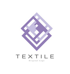 Textile original logo design element for company vector
