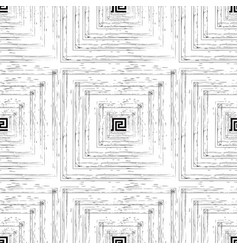 Textured grunge lines seamless pattern black and vector