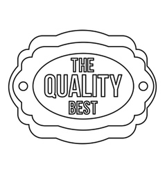 The best quality icon outline style vector image