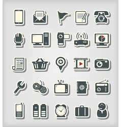 Universal icons paper cut style vector image