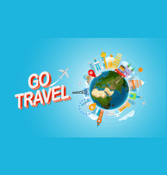 vacation travelling concept go travel travel with vector image