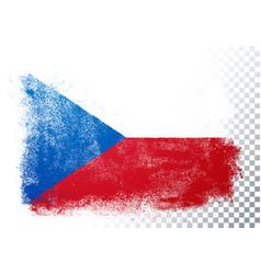 vintage grunge texture flag czech republic vector image