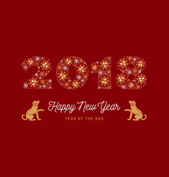 year of the dog chinese zodiac dog number 2018 vector image
