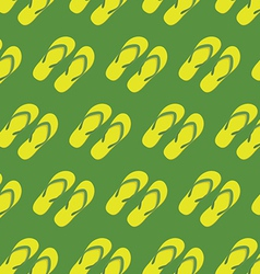 Yellow slippers seamless pattern vector image