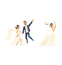 groom and pride character set isolated vector image vector image