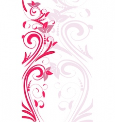 ornament vertical vector image vector image