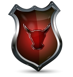 Shield with the Head of a Bull vector image