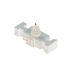 White house USA icon isometric 3d style vector image vector image