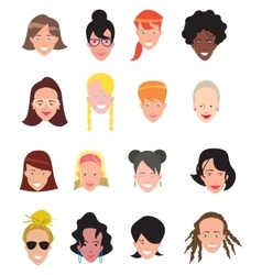 Women avatar icons vector image