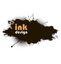 black grunge banner vector image