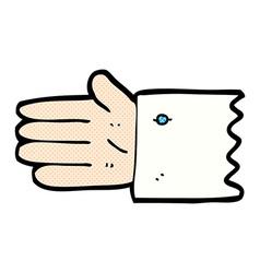 Comic cartoon open hand symbol vector