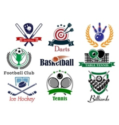 Competition sports emblems and symbols vector image