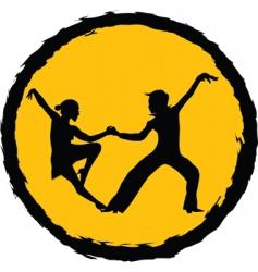 dance icon vector image vector image