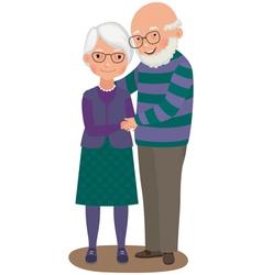 Elderly couple vector image