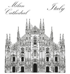 milan cathedral in italy vector image vector image