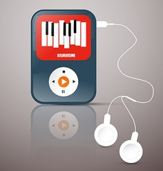 MP3 Player Abstact Music Player with Headphones vector image vector image