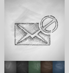 stop letter icon hand drawn vector image