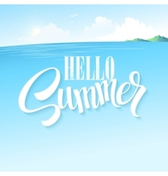 Summer blue sea landscape vector image vector image