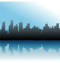 urban skyline vector image vector image