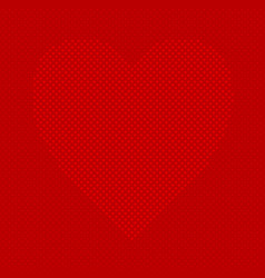 red heart shaped background from hearts - pattern vector image vector image