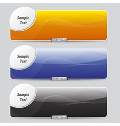 sliders or banners vector image