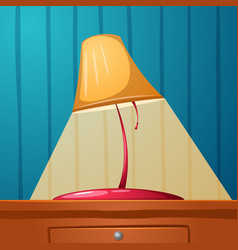 table lamp is on the table wall-papers in the vector image