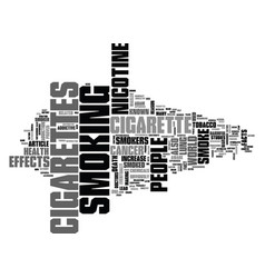 why do people smoke cigarettes text word cloud vector image vector image
