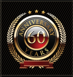 60 years anniversary golden label vector image vector image