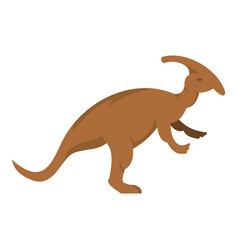 brown parazavrolofus dinosaur icon isolated vector image