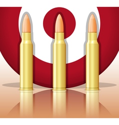 Bullets and target vector image