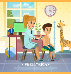 pediatric department vector image vector image