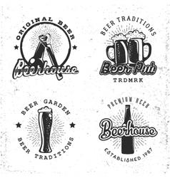 Set of logos beer concepts Labels in retro vector image vector image