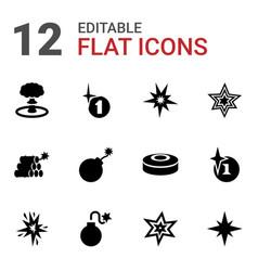 12 bang icons vector