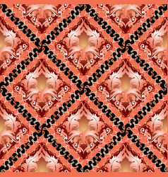3d baroque seamless pattern ornamental damask vector image