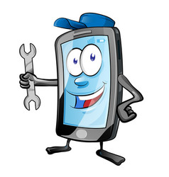 a smartphone mobile repair service or mechanic vector image
