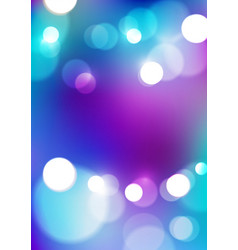 Abstract bokeh lights on violet blue background vector