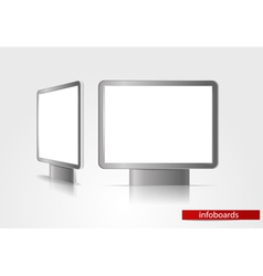 Advertising boards vector image vector image