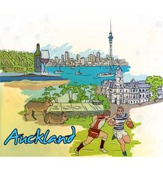 Auckland doodles vector