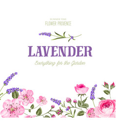 awesome lavender label vector image