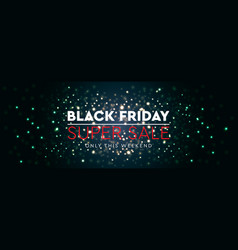 Black friday sale background bright glare of vector