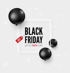 black friday web banner with special offer and vector image