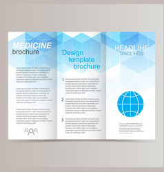 Brochure design template tri-fold abstract vector