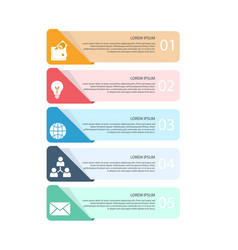 business infographics template image vector image